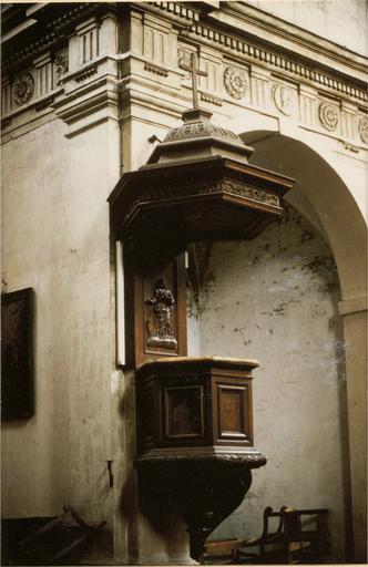 Chaire à prêcher, bopis sculpté, 17e siècle