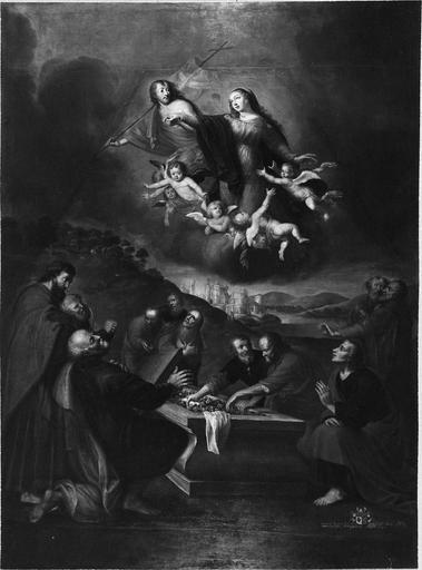 tableau : L' Assomption de Notre-Dame, toile , 1667, après restauration de 1975
