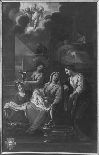 tableau :La Nativité, toile vers 1734, après restauration de 1975