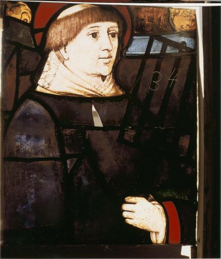 Verrière de saint Laurent, 15e siècle détail saint Laurent