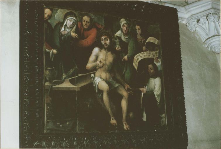 Tableau: Le Christ aux cinq plaies, huile sur bois, 1535