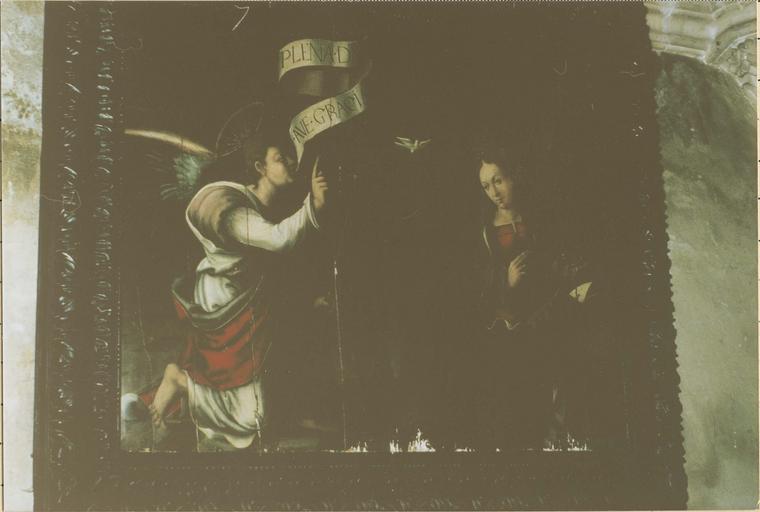 Tableau: L'Annonciation, huile sur bois, 1535