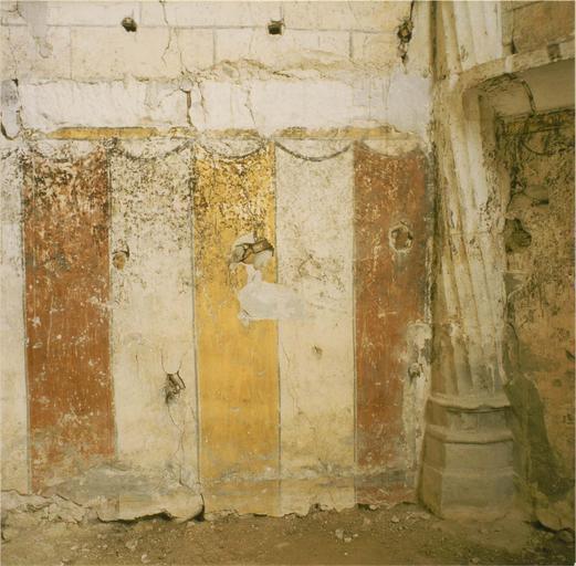 Peintures murales, détail du bas du mur