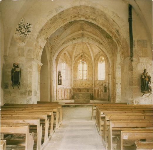 peintures murales, vue de la nef