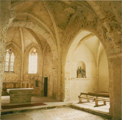 Peintures murales, vue de l'abside et du transept Sud