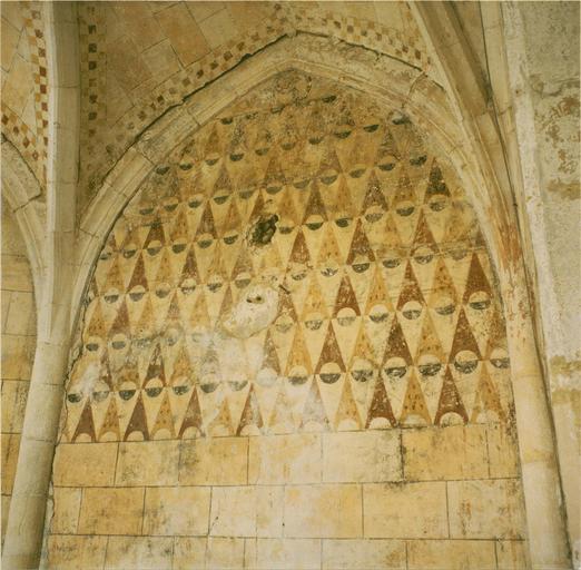 Peintures murales, détail d'un pan de l'abside