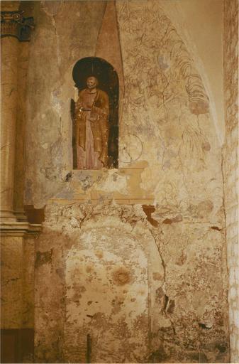 Peinture murale, détail de saint Pierre