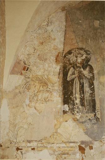 Peinture murale, détail d'un saint