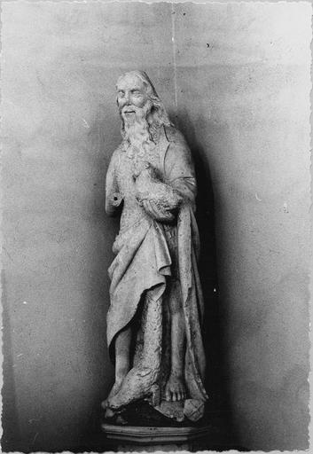 statue : saint Jean-Baptiste,  pierre, fin 15e - début 16e siècle