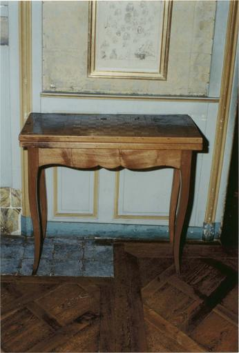 table tric-trac, bois