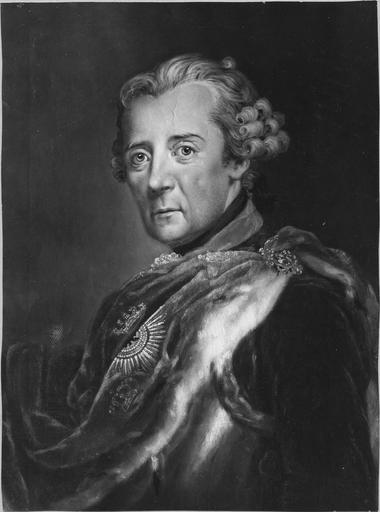 Tableau : portrait du grand Frédéric, paint par Pesne ou Knobelsdorf