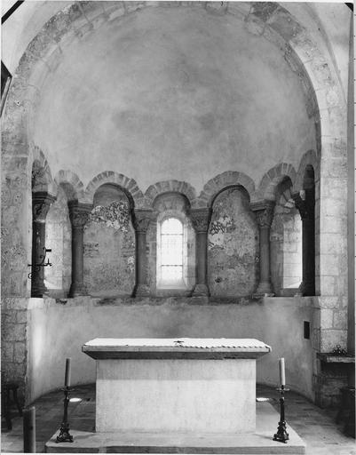 Peinture murale : vue générale de l'abside du choeur