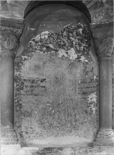 Peinture murale : détail de l'arcature nord-est, personnage