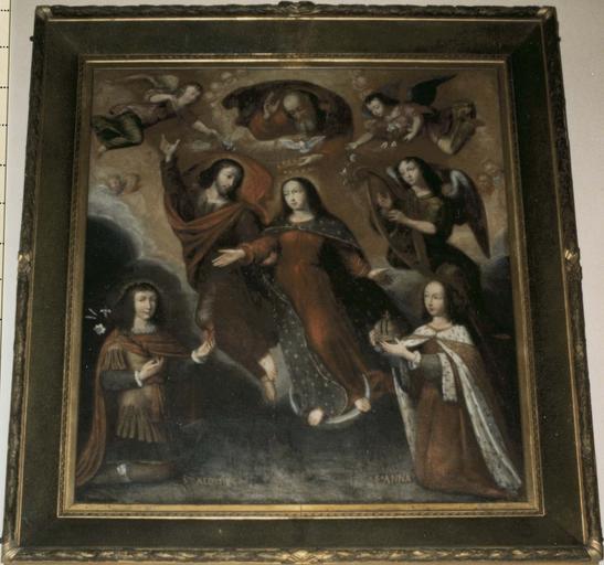 Tableau :  Le Voeu de Louis XIII, huile sur toile, milieu 17e siècle
