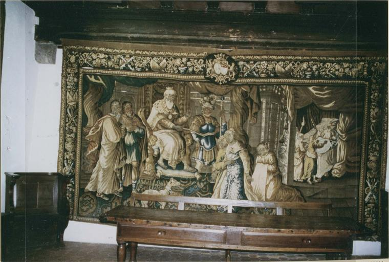 Tapisserie laine et soie : La Présentation d'Esther à Assuérus, fin 17e - début 18e siècle