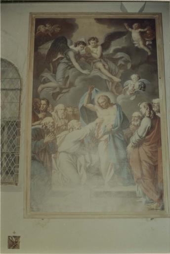 Tableau : L' Incrédulité de saint Thomas, huile sur toile,1766