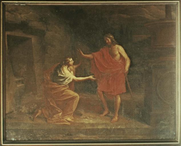 tableau : Le Christ apparaissant à Madeleine (Noli me tangere), huile sur toile , 1706