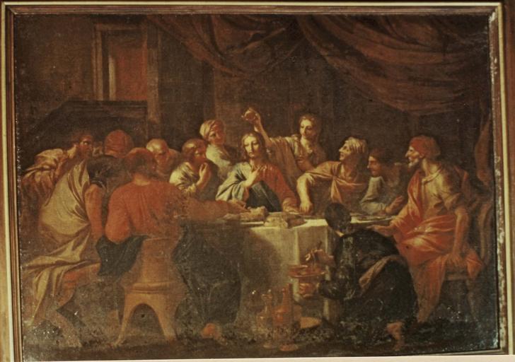 Tableau : Le repas chez Simon huile sur toile, 1713