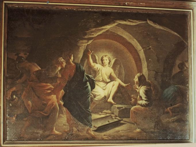 Tableau : Les saintes femmes au sépulcre, huile sur toile, 1713