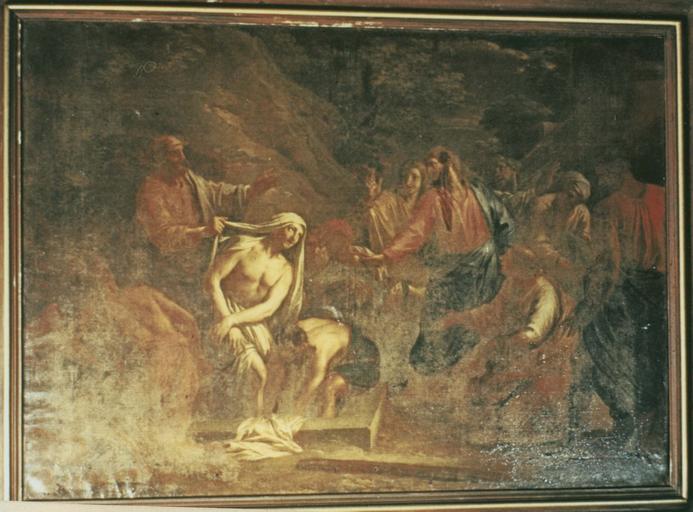 Tableau : La Résurrection de Lazare, huile sur toile, 1713