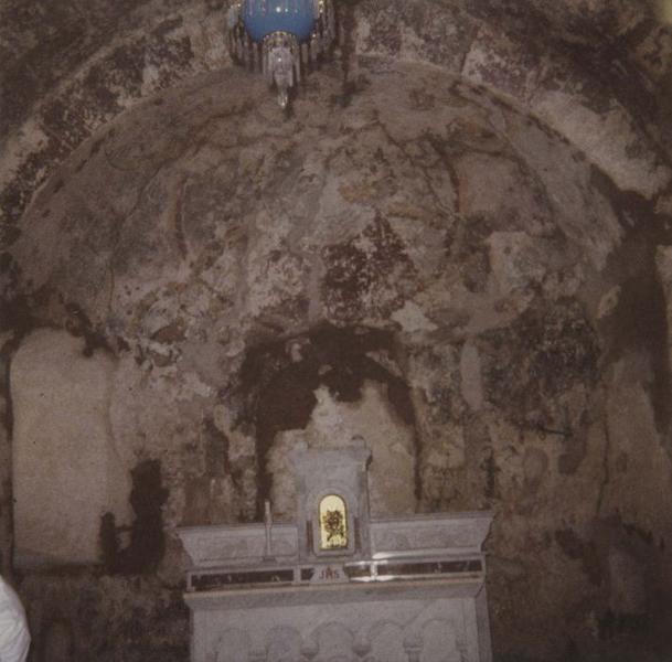 Peinture monumentale : Christ en majesté ; symboles des évangélistes 1
