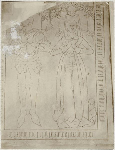 Dalle funéraire de Georges de Varax et d'Antoinette de Luirieux, sa femme