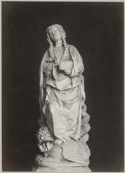 Tombeau de Marguerite de Bourbon, détail