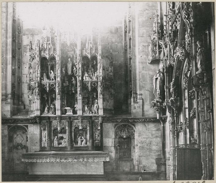 Retable de la chapelle de la Vierge, vue générale