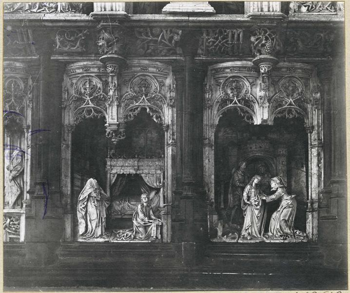 Retable de la chapelle de la Vierge, détail