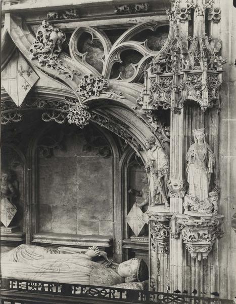 Tombeau de Marguerite de Bourbon, vue partielle