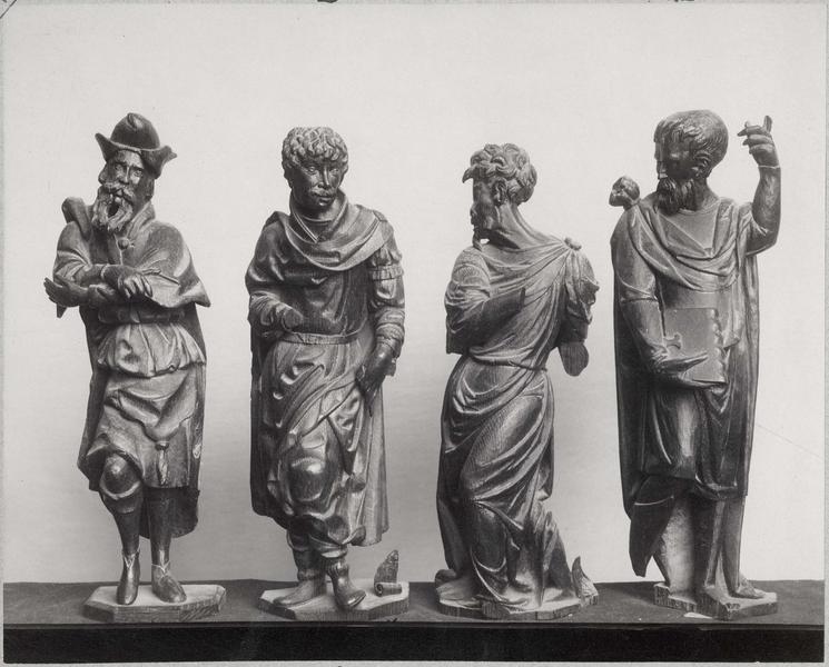 Stalles, détails (statuettes d'Amos, Jonas, Habacuc et Abdias)
