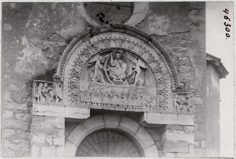 Bas-relief : Christ en gloire, la Cène, vue générale