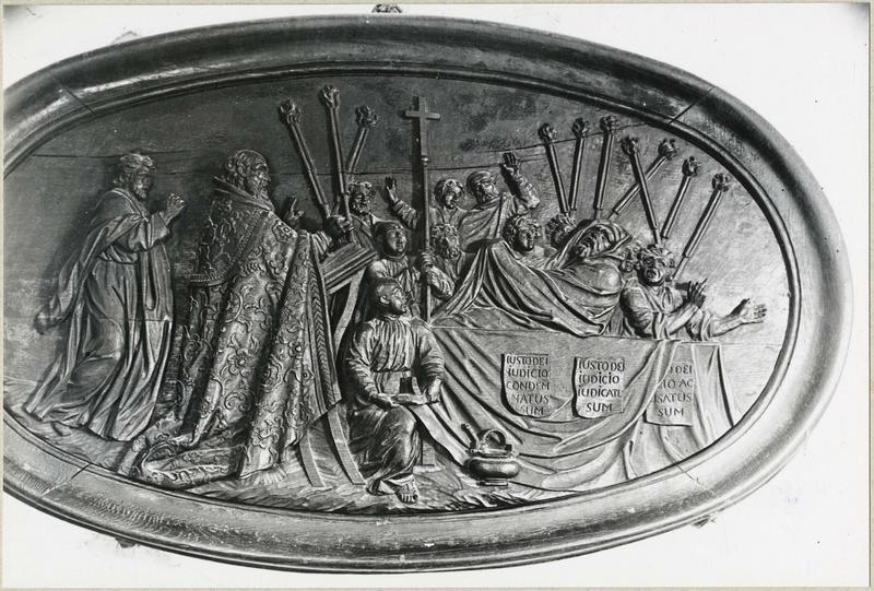 Bas-relief : le Jugement de Diocres, vue générale