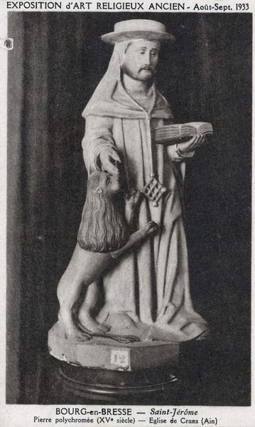 Statue : saint Jérôme, vue générale