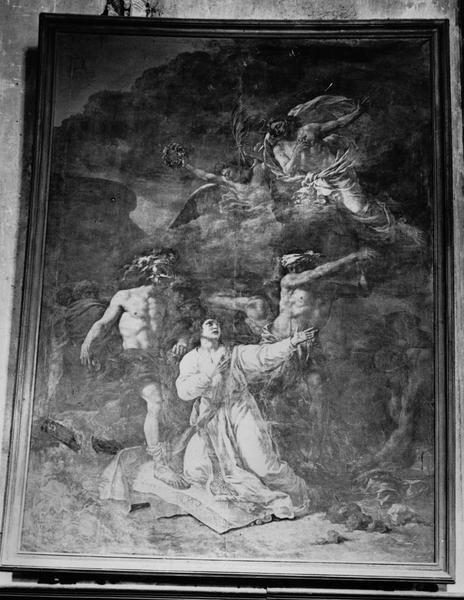 Tableau : Martyre de saint Etienne (le), vue générale