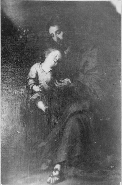 Tableau : saint Joseph et l'enfant Jésus, vue générale
