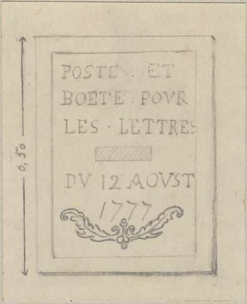 Plaque commémorative (?), vue générale