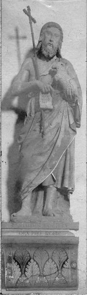 Statue (grandeur nature) : saint Jean-Baptiste, vue générale