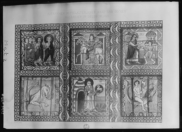 Reproduction d'un document : tableau d'un peintre anonyme allemand