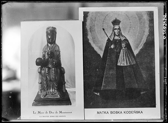 Reproduction d'un document : Statues de la Vierge, Mare de Déu de Montserrat