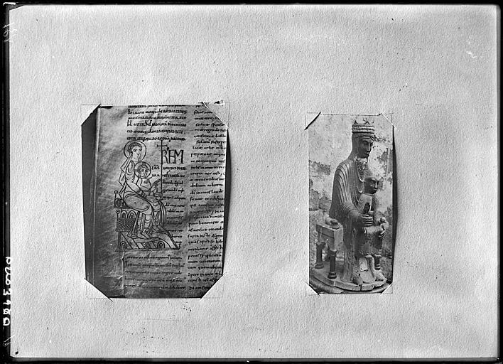Reproduction de document : illustration de Statue de la Vierge