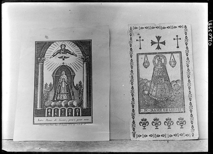 Reproduction de document : illustrations de la Vierge, Notre-Dame de Liesse
