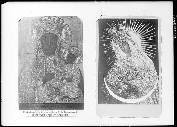 Reproduction de document polonais : icônes de la Vierge