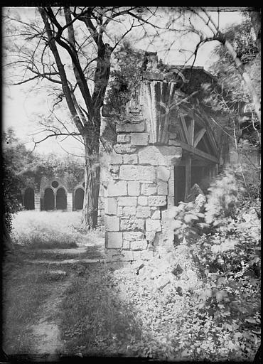 Cloître en ruines : arcature
