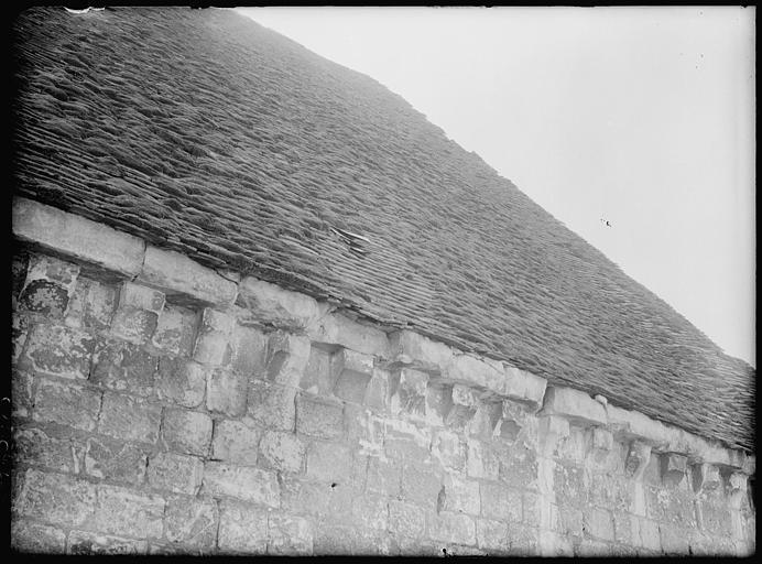 Grange aux Dimes : corniche du mur nord