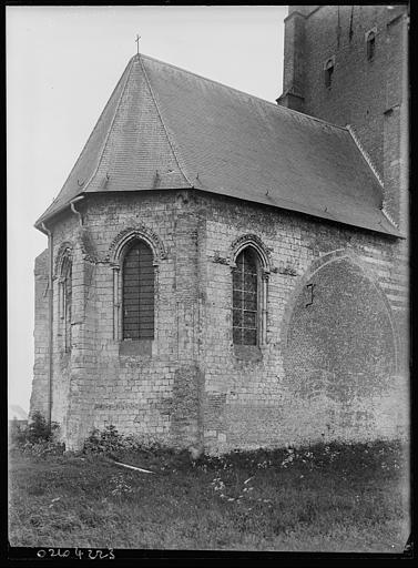 Abside, base du clocher