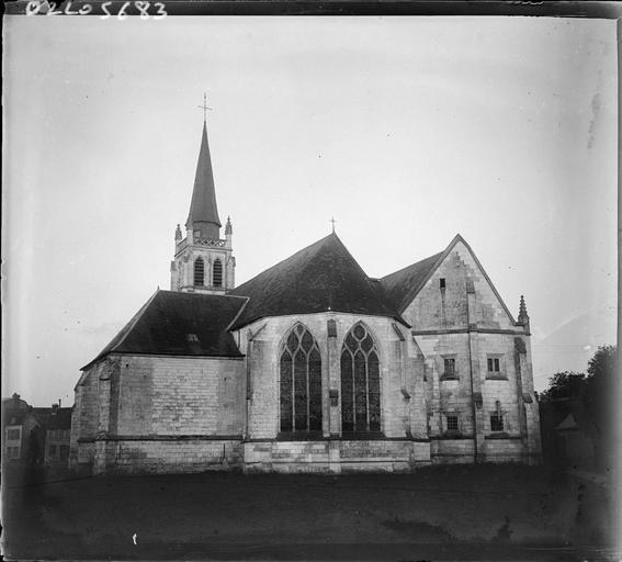 Ensemble est, abside et clocher