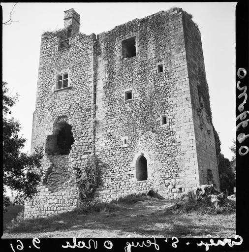 Logis principal en ruines