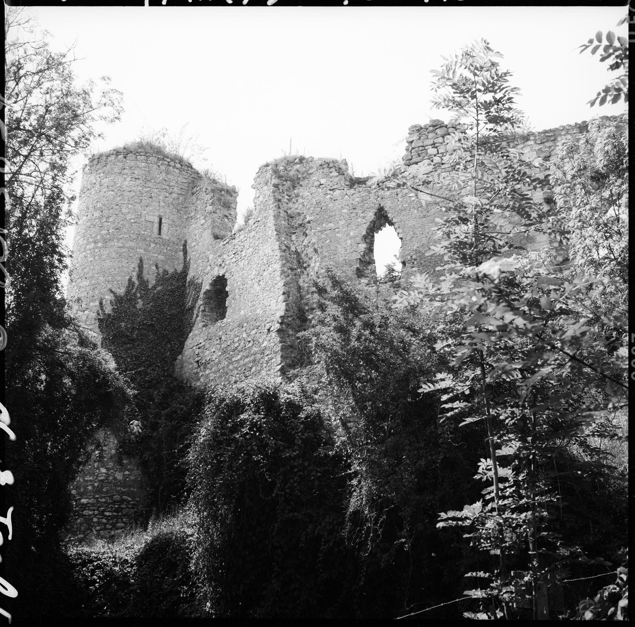 Enceinte et tour en ruines