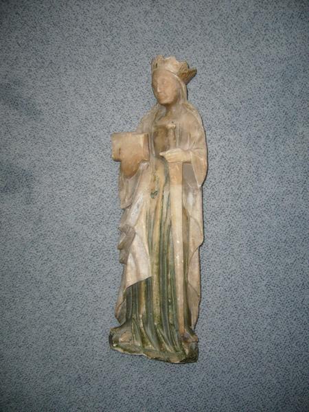 Statue: sainte Catherine, vue générale